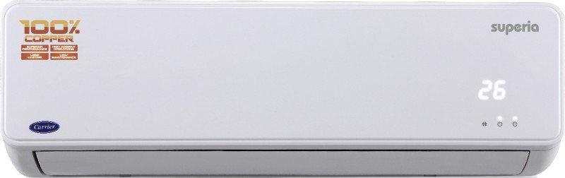 Carrier 1 Ton 3 Star BEE Rating 2017 Split AC - White(12K SUPERIA 3 STAR (CACS12SU3C3), Copper Condenser)