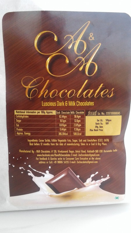 A&A Dark and Milk with Almonds Brittles(500 g)