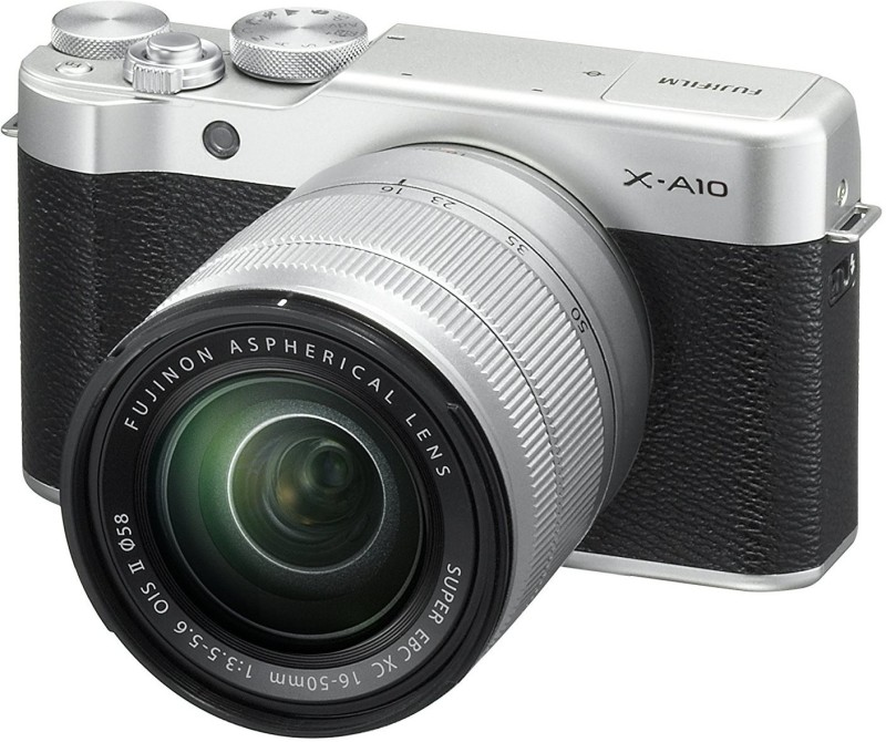 Fujifilm X-A10 Silver With XC 16-50mm F3.5-5.6 OIS II Lens Mirrorless Camera Kit(Silver)