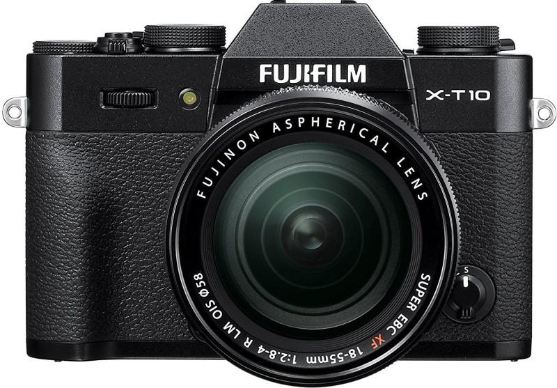 Fujifilm X-T10 Black with XF 18-55 mm F2.8-4.0 R LM OIS Lens Mirrorless Camera Kit(Black)