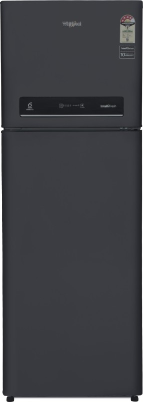 Whirlpool 360 L Frost Free Double Door 4 Star Refrigerator(Caviar Black, IF INV 375 ELT (4S))