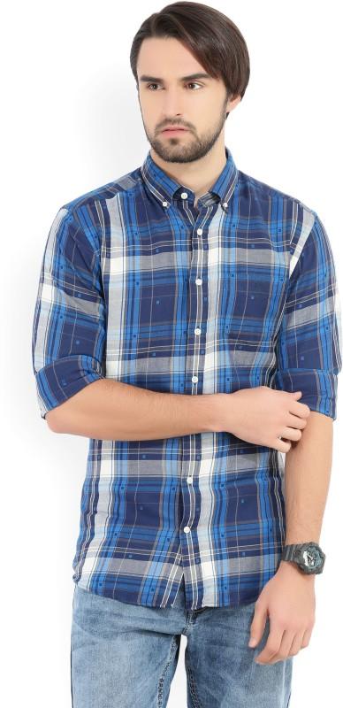 Gant Mens Checkered Casual White, Blue, Grey Shirt