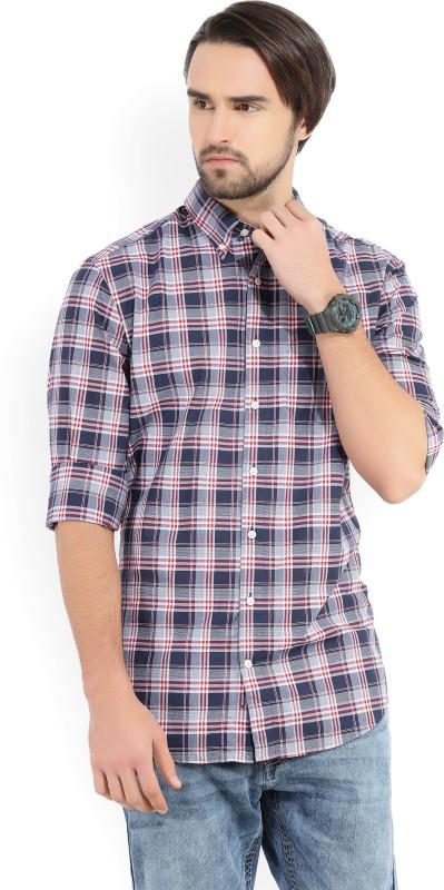 Gant Mens Checkered Casual White, Blue, Maroon Shirt