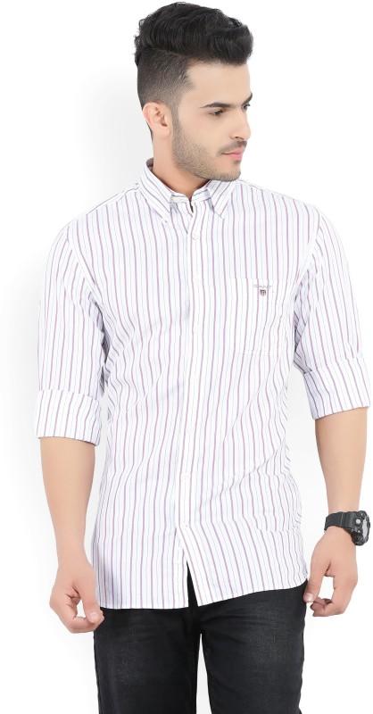 Gant Mens Striped Casual White, Blue, Pink Shirt