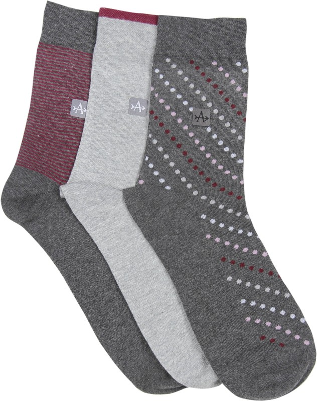 Arrow Mens Polka Print Crew Length Socks(Pack of 3)