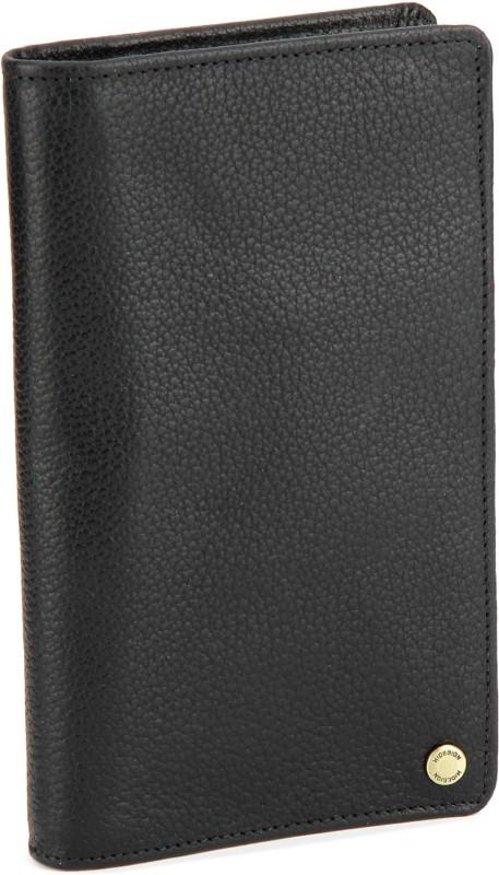 Hidesign Men Black Genuine Leather Wallet(14 Card Slots)