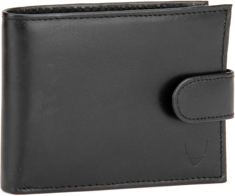 Hidesign Men Black Artificial Leather Wallet(4 Card Slots)