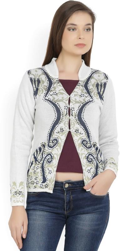 Monte Carlo Womens Button Self Design Cardigan