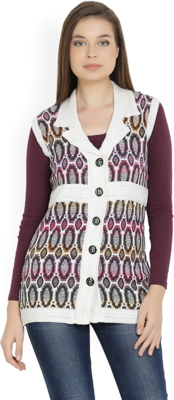 Monte Carlo Womens Button Printed Cardigan