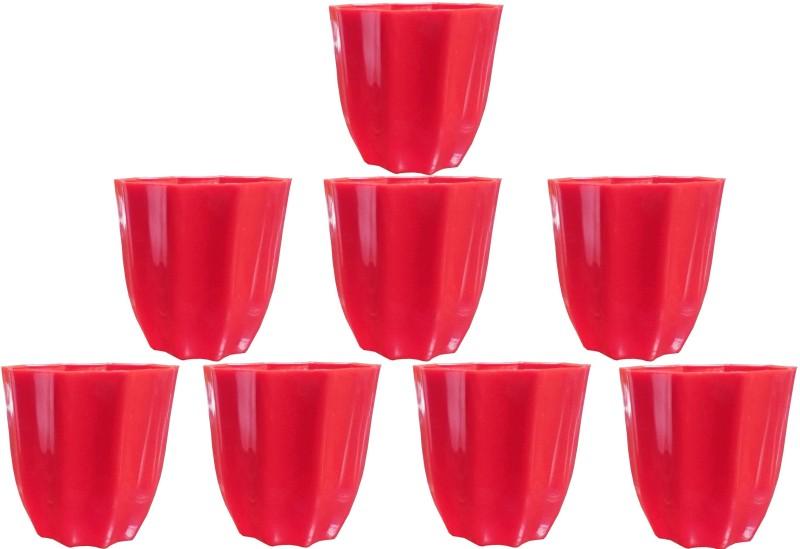 SHOPTICO Plant Pot Plant Container Set(Pack of 8, Plastic)