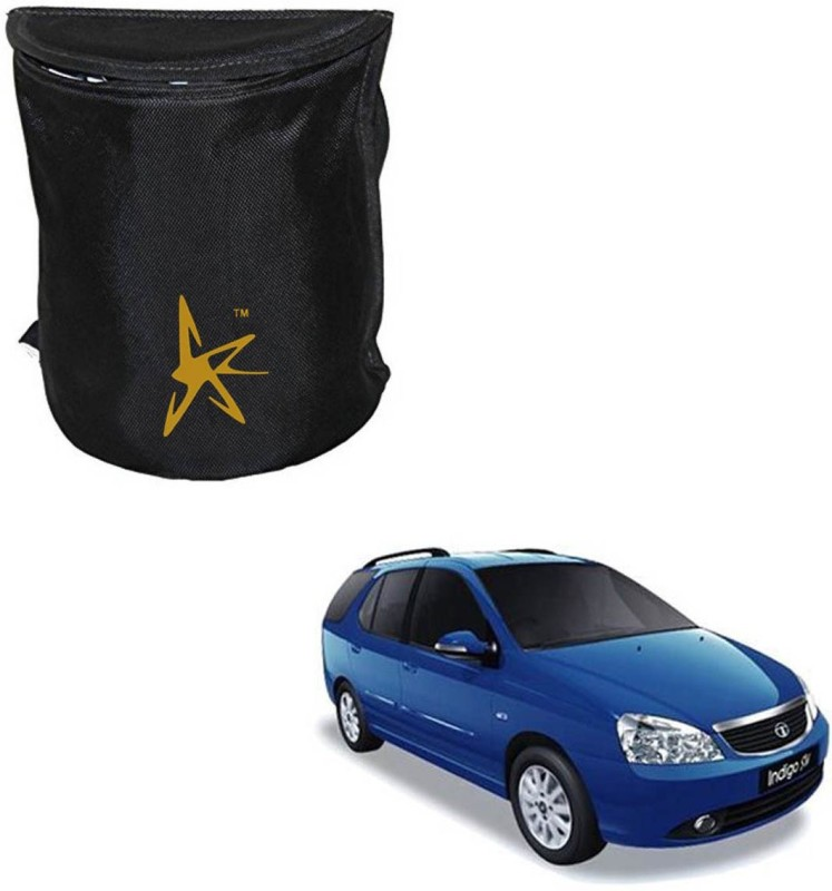 AutoKraftZ Premium Trash Bin / DUSTBIN / Multipurpose utility Box for Tata Marina Small Nylon Dustbin(Black)