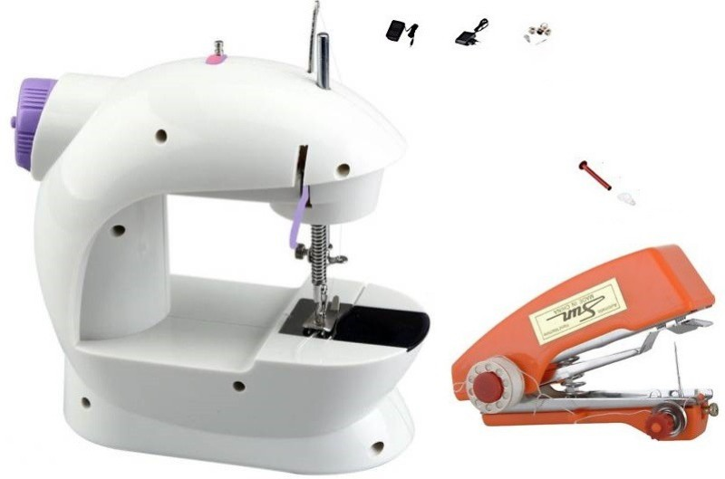 Benison India stapler sew machine,Fashion Spirit Mini Portable Sewing Machine with Light and Foot Pedal Adjustable Speed Electric Sewing Machine( Built-in Stitches 1)
