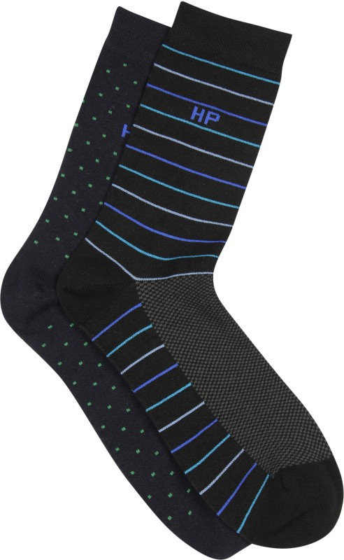 Hush Puppies Mens Striped Crew Length Socks(Pack of 2)