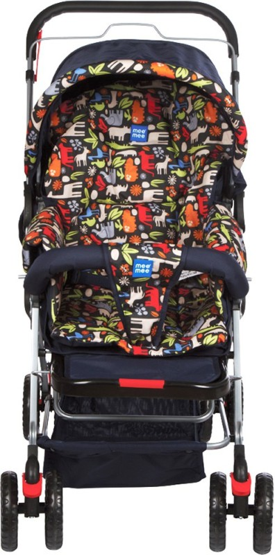 MeeMee Comfortable Pram with 3 Seating Positions (Navy Blue)(3, Blue)