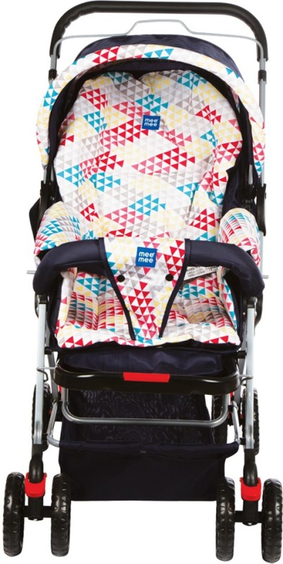 MeeMee Comfortable Pram with 3 Seating Positions (Red)(3, Red)