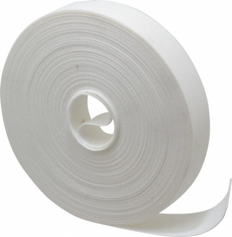 TRIS Velcro White Tape Roll (Hook & loop) 25 Mts * 25 Mm (1 inch width) Sew-on Velcro(White)