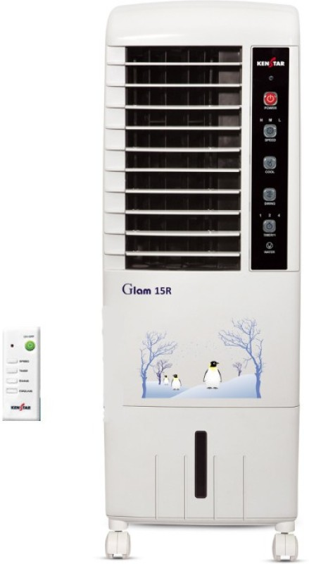 Kenstar Glam R 15L Remote Tower Air Cooler(White, 15 Litres)