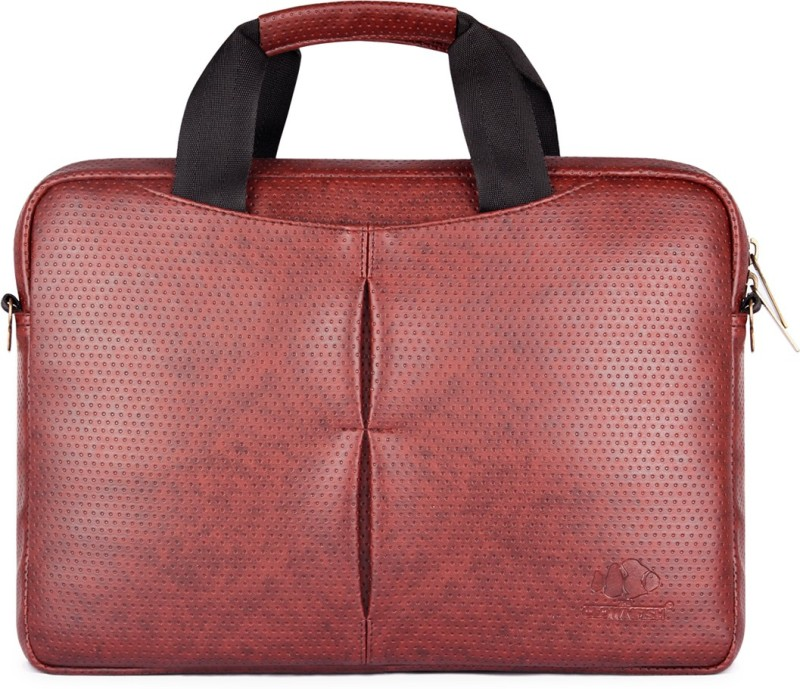 The Clownfish Imperial Series Medium Briefcase - For Men & Women(Brown Black)