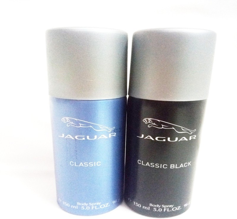 Jaguar CLASSIC AND CLASSIC BLACK Body Spray - For Men(300 ml, Pack of 2)