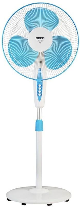 Usha Mist Air Icy 3 Blade Pedestal Fan(Blue)