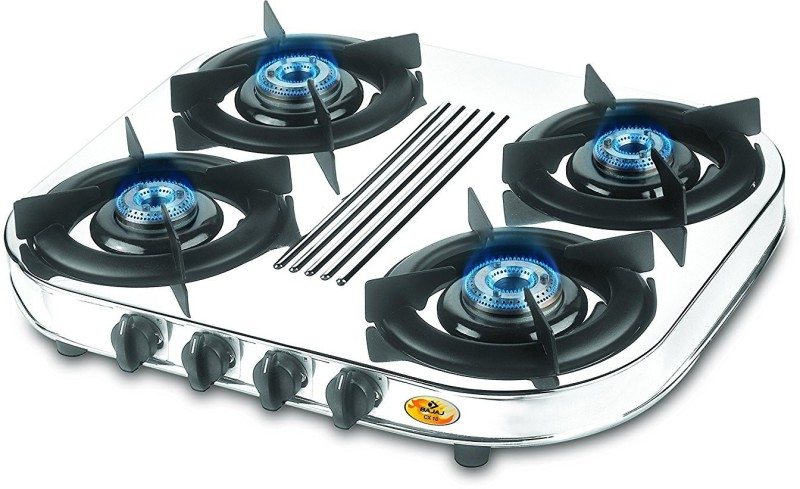 Bajaj Stainless Steel Manual Gas Stove(4 Burners)