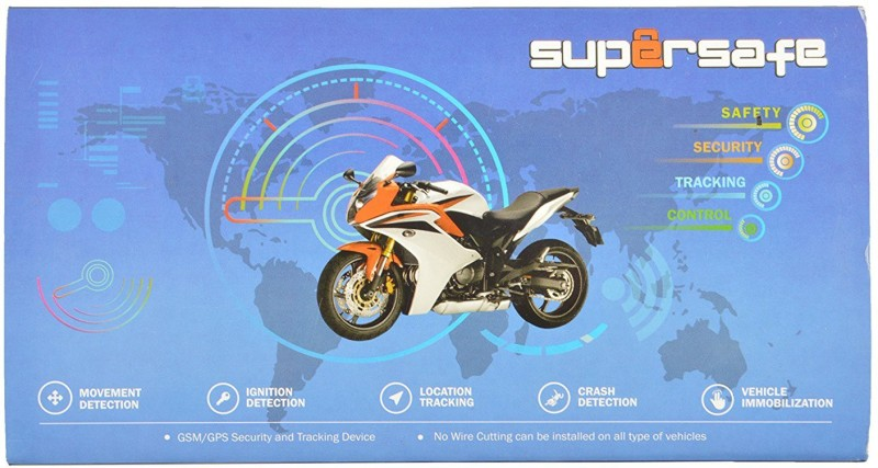 SuperSafe Indias No.1 GPS Tracker for Bike (Advanced-2.0 - GPS) - Specially Designed for Hero and Yamaha GPS Device(Black)