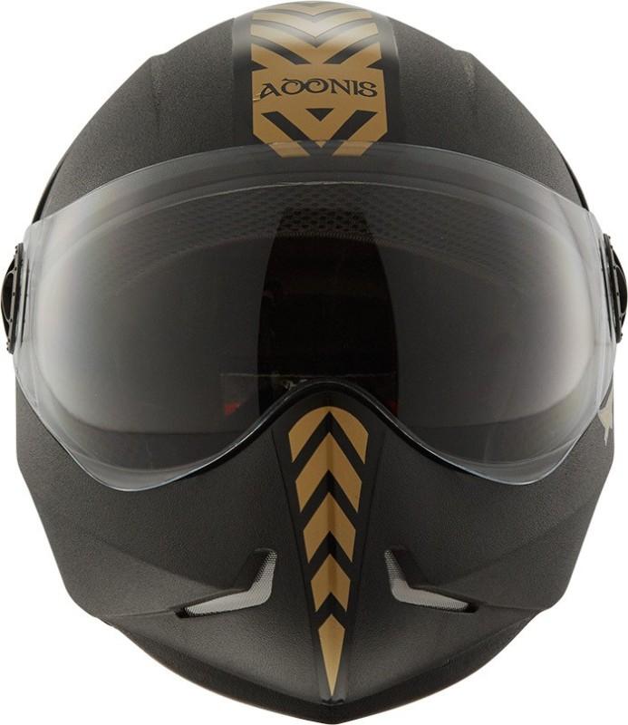 Steelbird Steel bird Adonis Motorcycle Black with Gold Motorbike Helmet(Black)
