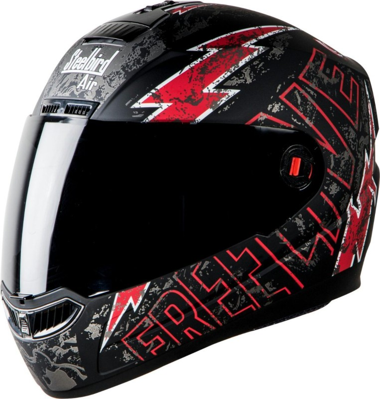 Steelbird Life Black with red Motorbike Helmet(Black / red)