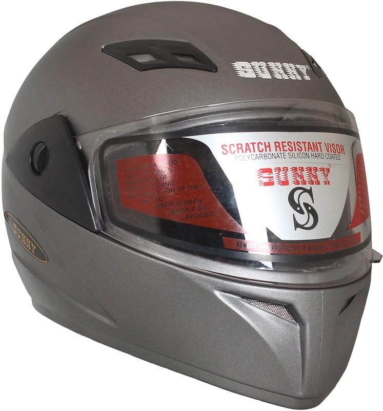 Sunny MOTOSPIN Motorbike Helmet(SILVER BLACK)