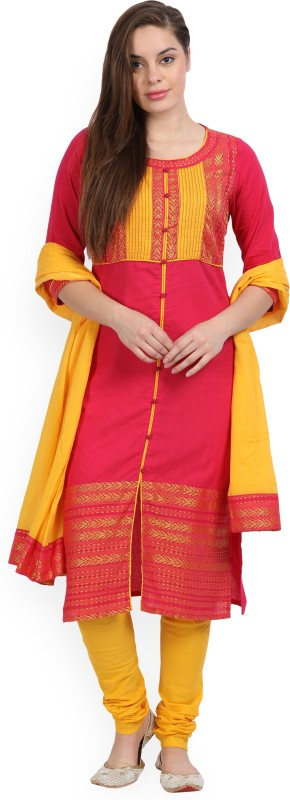 Aurelia Printed Kurta & Salwar(Stitched)