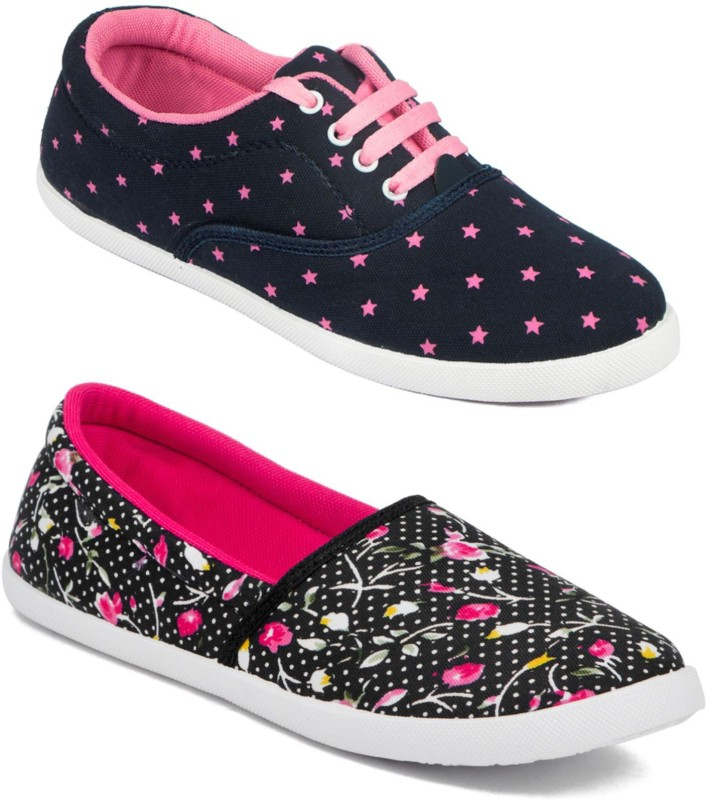 Asian Women's Combo Pack of 2 casual shoes Sneakers For Women(Multicolor)