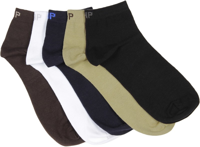Hush Puppies Mens Solid Ankle Length Socks(Pack of 5)