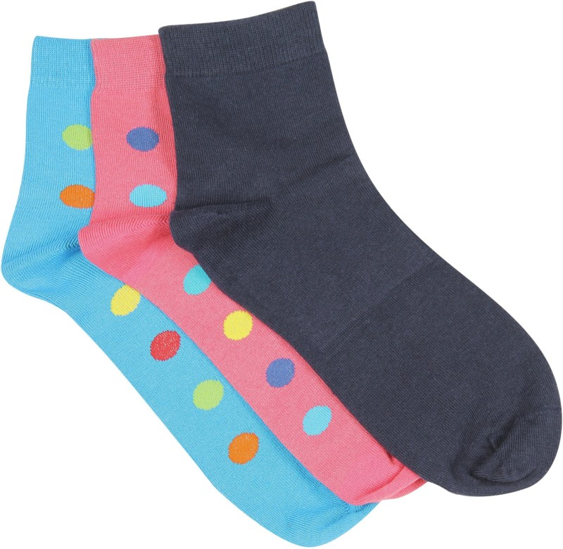 Hush Puppies Mens Self Design Ankle Length Socks(Pack of 3)