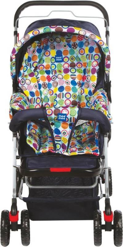MeeMee Comfortable Pram with 3 Seating Positions (Multicolor)(3, Multicolor)