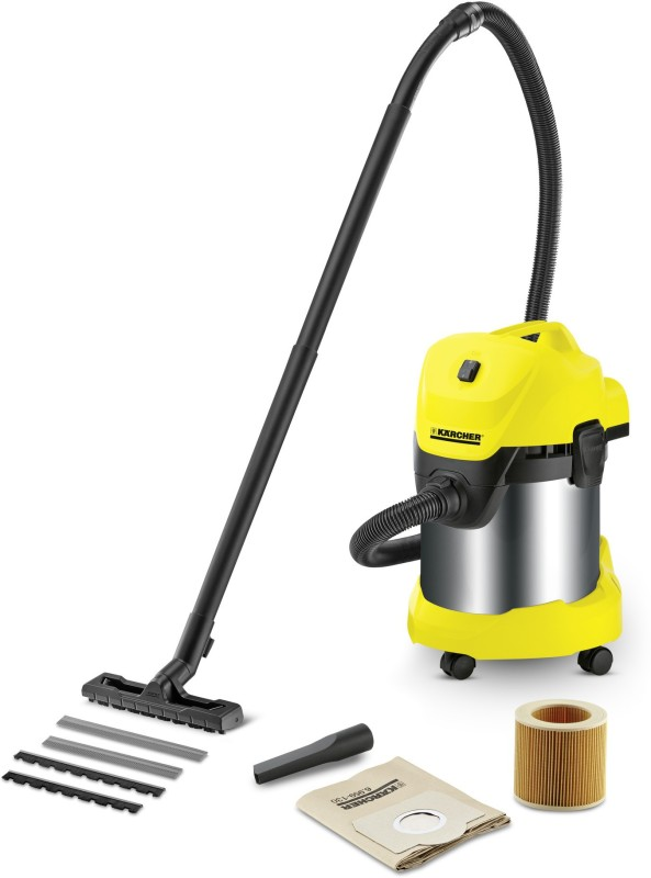 Karcher WD3 Premium Multi purpose vaccum cleaner Wet & Dry Cleaner(Yellow, Black)