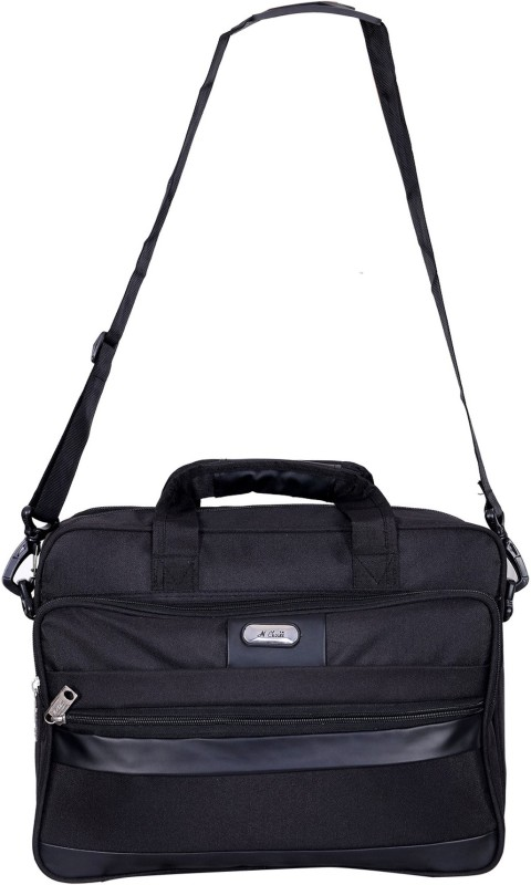 N Choice NCLT3_07 Medium Briefcase - For Men & Women(BLACK)