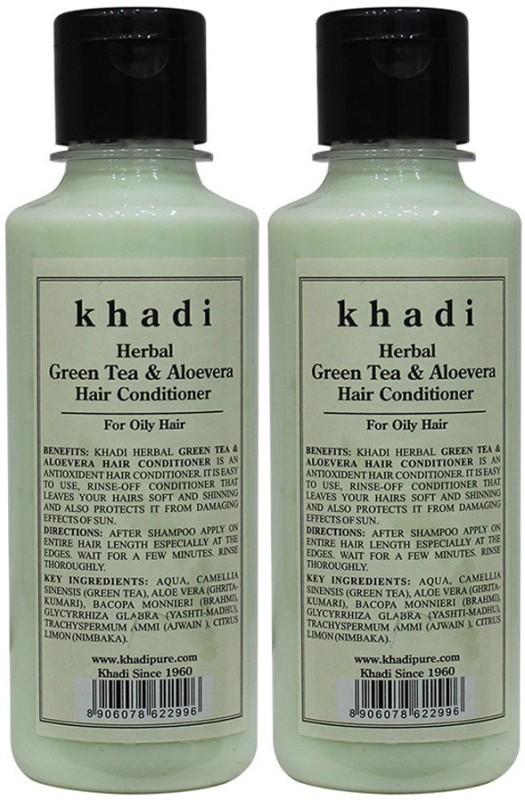 Khadi Herbal Green Tea & Aloevera Hair Conditioner(420 ml)