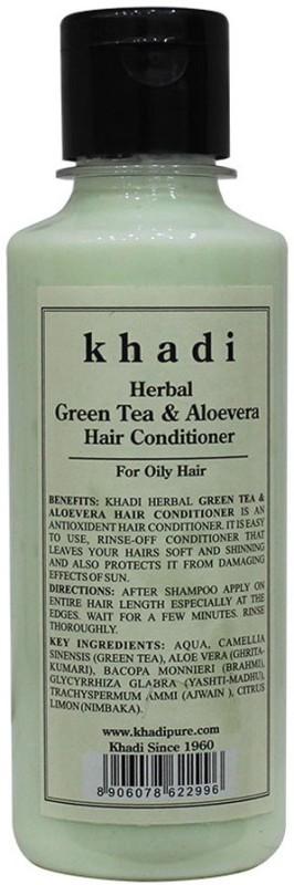 Khadi Herbal Green Tea & Aloevera Hair Conditioner(210 ml)