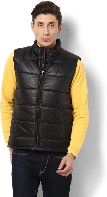 Van Heusen Sleeveless Solid Men Jacket