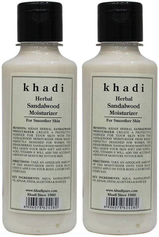 Khadi Herbal Sandalwood Moisturizer(420 ml)