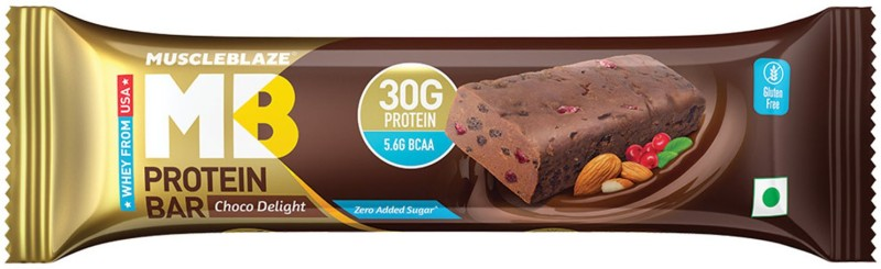MuscleBlaze Hi Protein Bar with 30g Protein & Zero Added Sugar (Pack of 1) Protein Bars(100 g, Choco Delight)