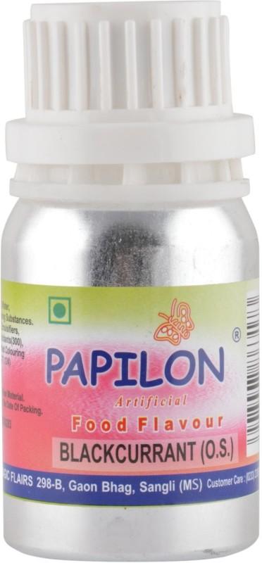 Papilon Concentrated Artificial Food Flavour, BLACKCURRANT,(O.S.) 50 ml Black Currant Liquid Food Essence(50 ml)