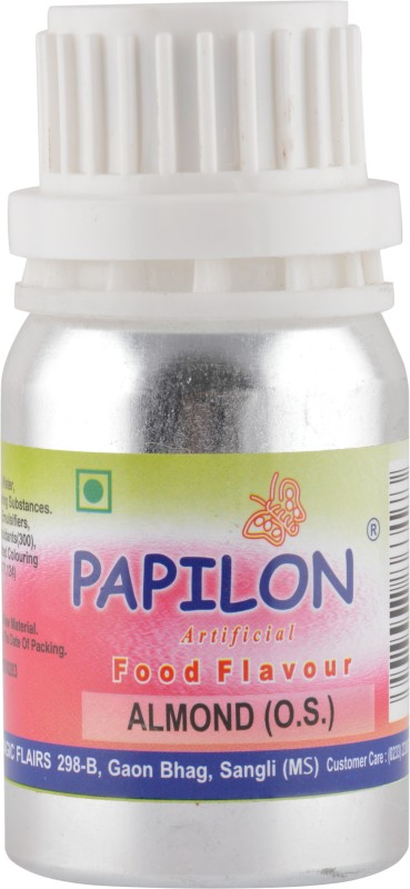 Papilon Concentrated Artificial Food Flavour, Almond, 50 ml ( O.S.) Almond Liquid Food Essence(50 ml)