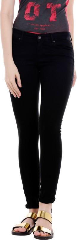 Spykar Regular Womens Black Jeans
