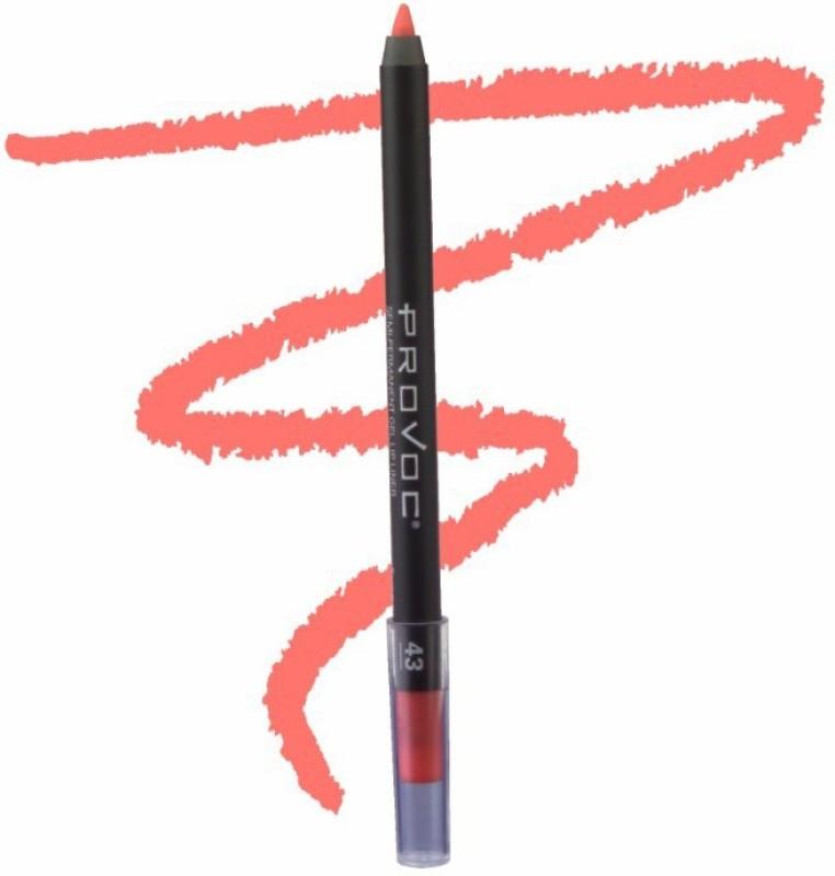 Provoc Semi-Permanent Gel Lip Liner Filler - 43 Summer Sunset(43 Summer Sunset)