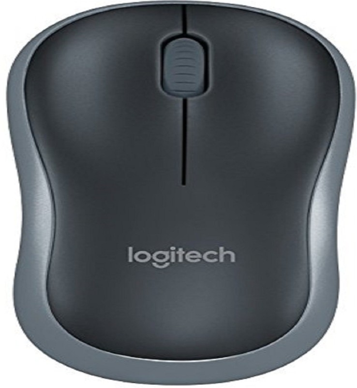 Logitech M185 Wireless Optical Mouse(Bluetooth, Black)
