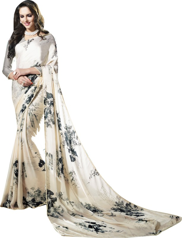 Shaily Retails Self Design Fashion Satin, Georgette Saree(Multicolor)
