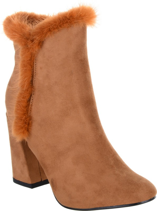 Shuz Touch Boots For Women(Khaki)