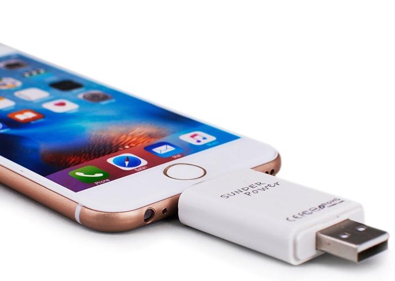 VibeX ™ USB i-Flash Drive Flash Memory for iPad iPhone 5S 5 C 6 6Plus 6S 6S Plus High Speed™-Type-056 USB Flash Drive(White)