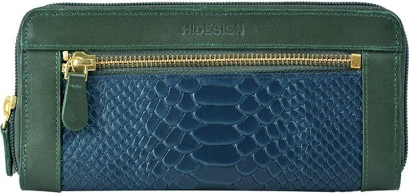 Hidesign Women Green Genuine Leather Wallet(8 Card Slots)